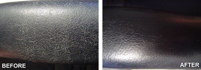 leather sofa cleaning before and after
